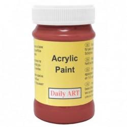 Farba akrylowa 100 ml - czrwona ochra - doskonała do decoupage