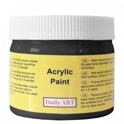 Farba akrylowa 300 ml czarna - świetna do decoupage