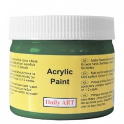 Farba akrylowa 300 ml - ciemnozielona - doskonała do decoupage
