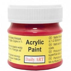 Farba akrylowa 50 ml - czerwona - doskonała do decoupage