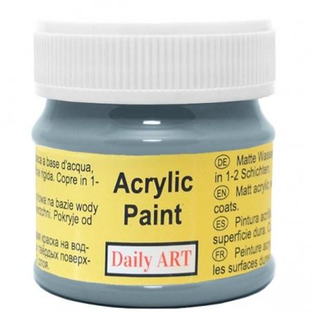 Farba akrylowa 50 ml - niebieskoszara - doskonała do decoupage
