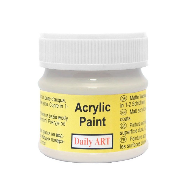 Farba akrylowa 50 ml - popielata - doskonała do decoupage