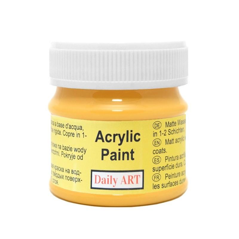 Farba akrylowa 50 ml - szafran - doskonała do decoupage