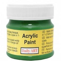 Farba akrylowa 50 ml - zielona - doskonała do decoupage