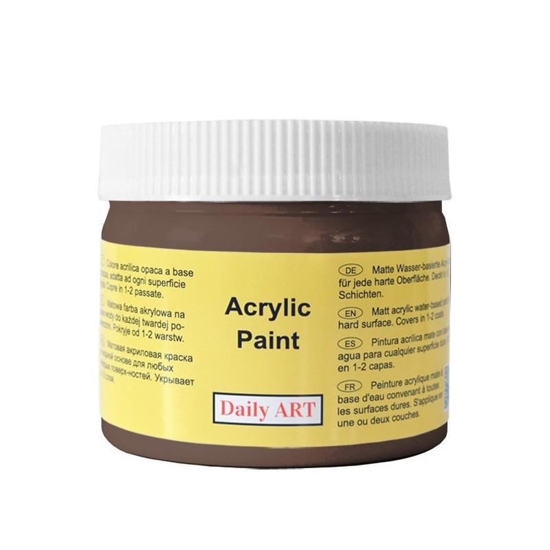 Farba akrylowa 300 ml - ciemnobrązowa - doskonała do decoupage