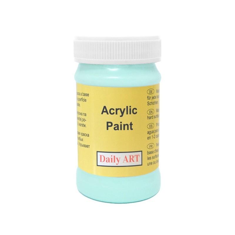 Farba akrylowa 100 ml - miętowa - doskonała do decoupage