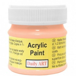 Farba akrylowa 50 ml - brzoskwiniowa - doskonała do decoupage