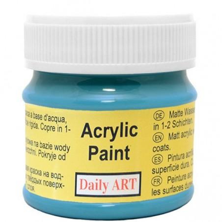 Farba akrylowa 50 ml - błękit Kalipso - doskonała do decoupage