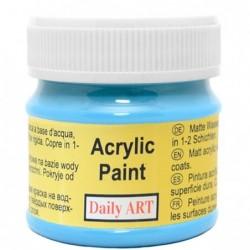 Farba akrylowa 50 ml - niebieska lazurowa - doskonała do decoupage