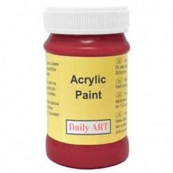 Farba akrylowa 100 ml - ciemnoczerwona - doskonała do decoupage