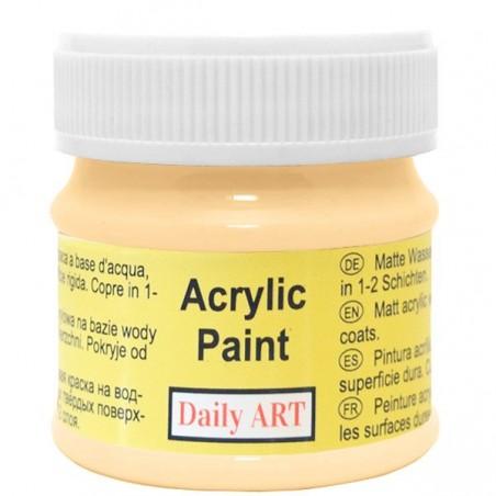 Farba akrylowa 50 ml - kremowa ciemna - doskonała do decoupage