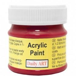 Farba akrylowa 50 ml - ciemnoczerwona - doskonała do decoupage