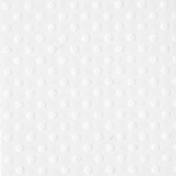 Papier do scrapbookingu, bazowy biały, Dottet Swiss Bazzil - Salt