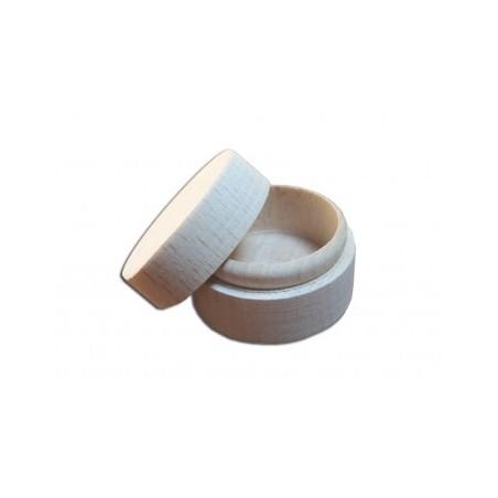 Pudełeczko na pierścionek z nielakierowanego drewna - baza do decoupage