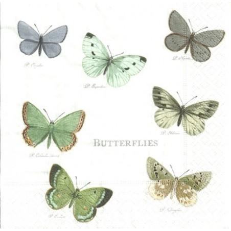 Serwetka - Motyle vintage