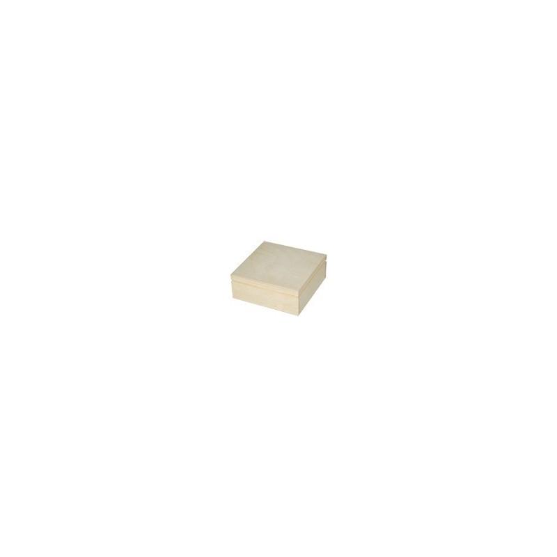 Pudełko drewniane kwadratowe 17x17 do decoupage