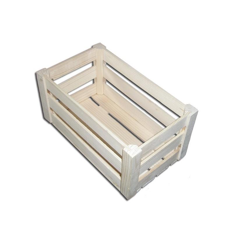 Skrzynka drewniana z listewek - średnia