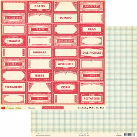 Papier do scrapbookingu, Farm Girl: Almanac [OA-PP689] - WYPRZEDAŻ