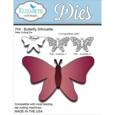 Wykrojniki Elizabeth Craft, Butterfly Silhouette [EC704]