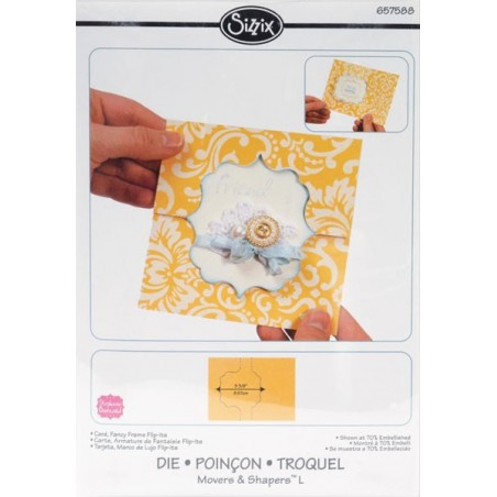 Wykrojnik Sizzix, Movers & Shapers Large Base Die Fancy Flip-Its, Card [657588]