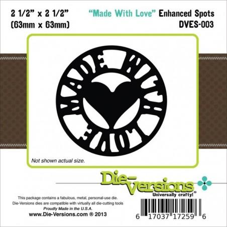 Wykrojnik Die-Versions Enhanced Spots Die, Made With Love