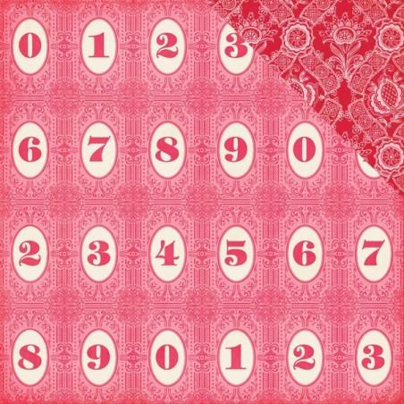 Papier do scrapbookingu, Jack & Jill Girl: Number Circles WYPRZEDAŻ [Echo Park 81008]