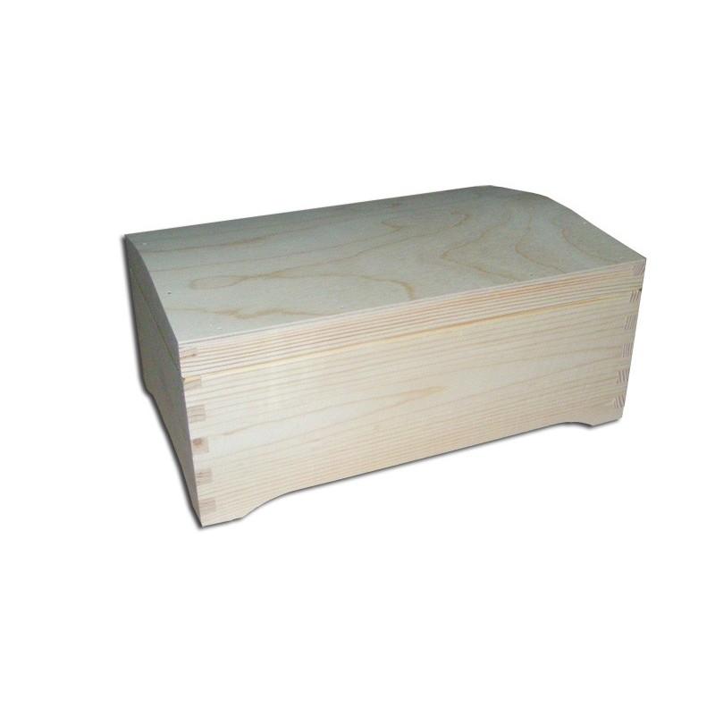 Kuferek z drewna - baza do decoupage.