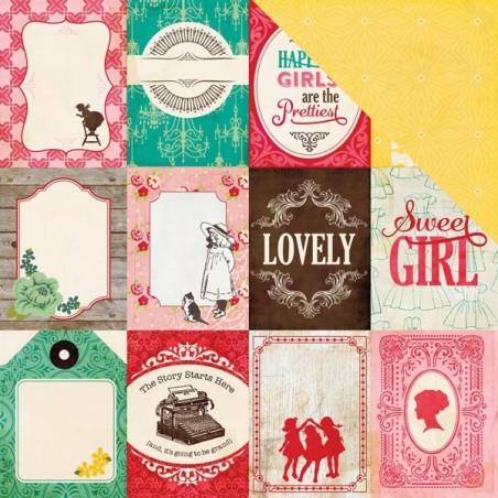 Papier do scrapbookingu, Jack & Jill Girl: 3x4 Journaling Cards WYPRZEDAŻ [Echo Park 81011]