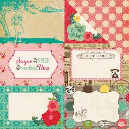 Papier do scrapbookingu, Jack & Jill Girl: 4x6 Journaling Cards WYPRZEDAŻ [Echo Park 81012]