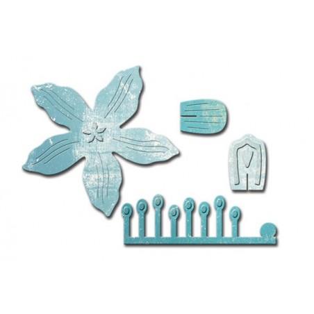 Wykrojniki Spellbinders Designer Die, Crafty Flower 1 By Scrappy Cat [S2168]