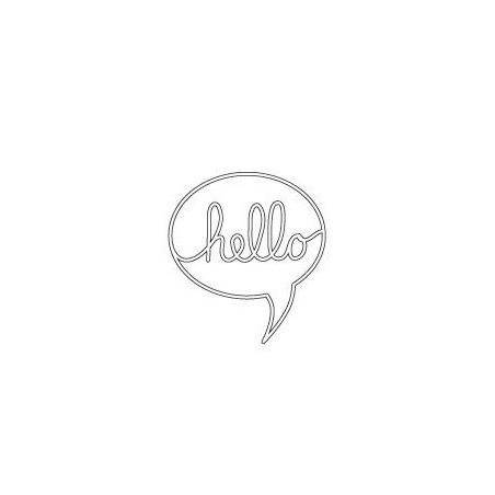 Wykrojniki Poppystamp, Hello Word Balloon