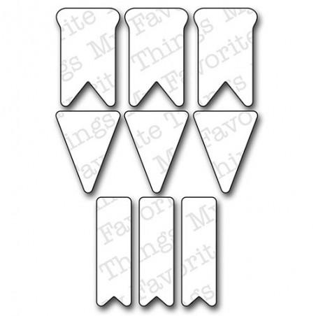 Wykrojnik Die-Namics Die, Bitty Banners [MFT-350]