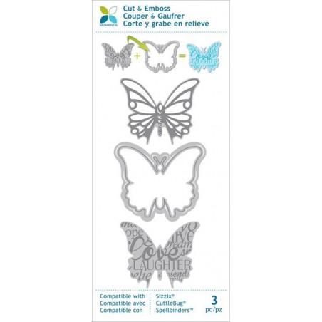 Wykrojnik z wkładami do wytłaczania, Momenta Cut & Emboss Die, Butterfly