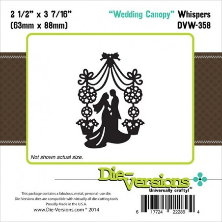 Wykrojnik Die-Versions Whispers Die, Wedding Canopy