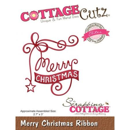 Wykrojnik CottageCutz Die, Merry Christmas Ribbon
