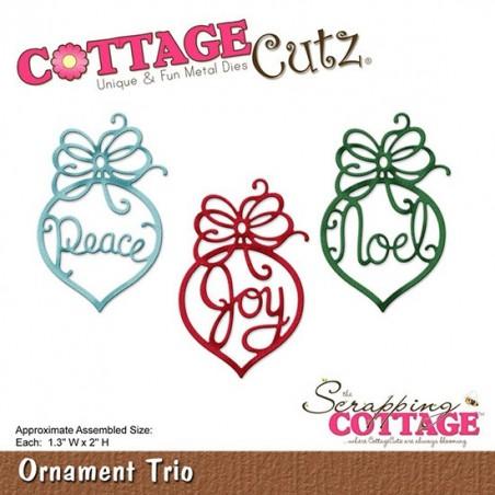 Wykrojnik CottageCutz Die, Ornament Trio WYPRZEDAŻ