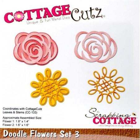 Wykrojnik CottageCutz Die, Doodle Flower Set 3