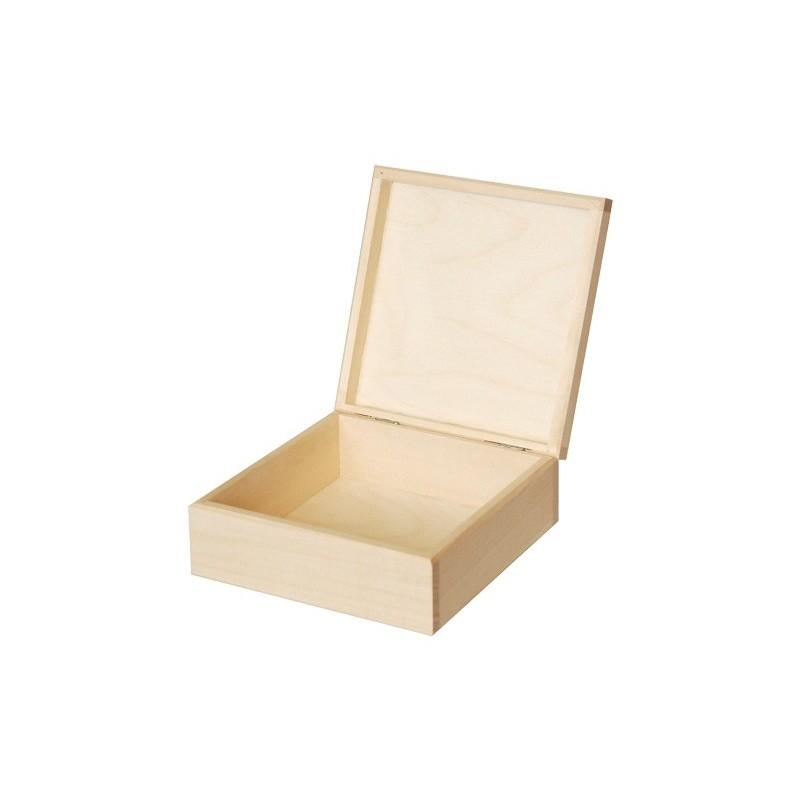 Pudełko drewniane kwadratowe 16x16 do decoupage