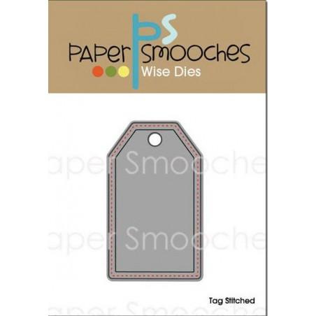 Wykrojnik Paper Smooches, Stitched Tag [KFBD126]