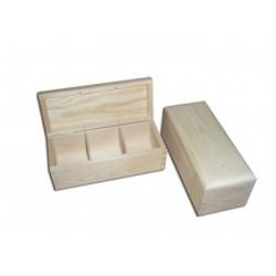 Herbaciarka 3-komorowa z surowego drewna PH303