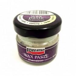 Pasta woskowa Pentart, kameleonowa zielona