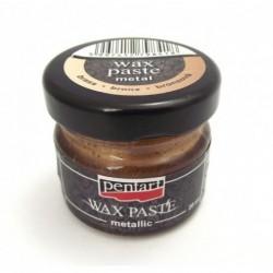 Pasta woskowa Pentart, metaliczny brąz