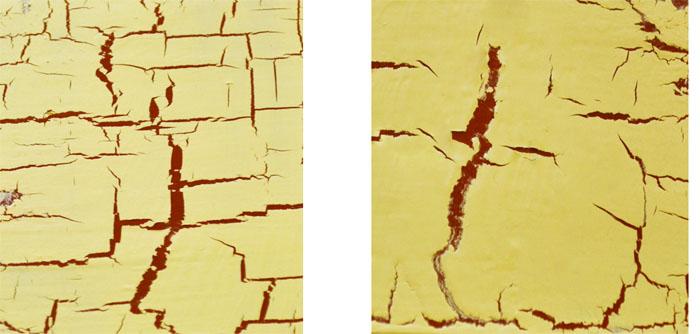 Country Crackle w praktyce - wielkość spękań a grubość wierzchniej farby