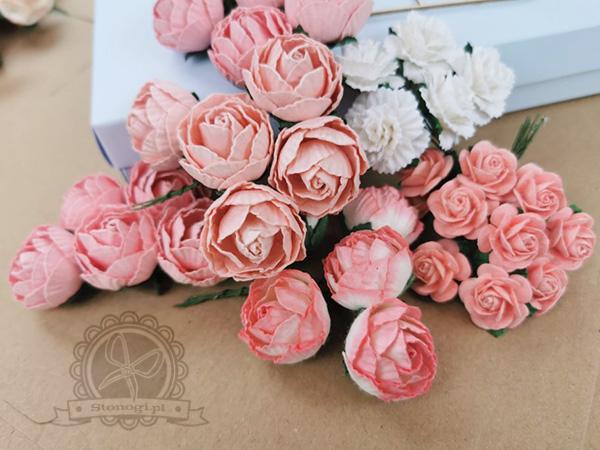 Kwiatki papierowe do scrapbookingu