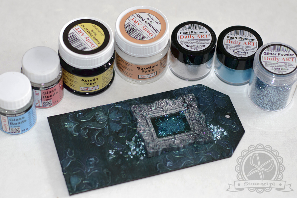 Pigmenty perłowe Daily Art w pracach decoupage i mixed media