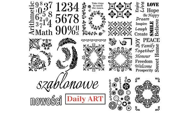 Nowe szablony Daily Art - do decoupage, scrapbookingu i nie tylko