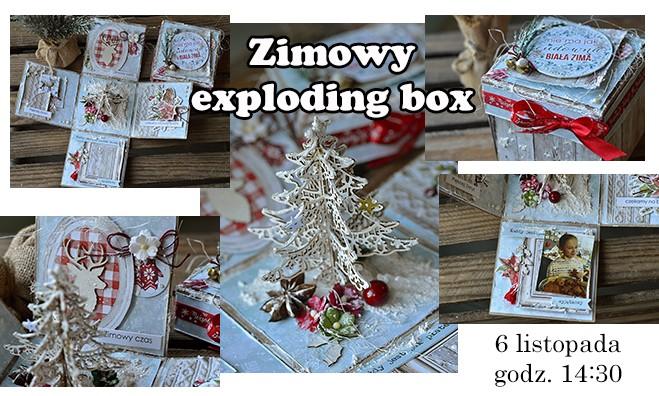 Zimowy exploding box - warsztaty scrapbookingu