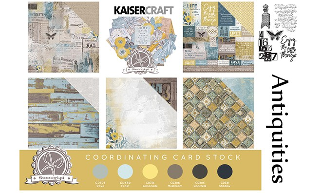Papiery do scrapbookingu Kaisercraft Antiquities - NOWOŚĆ!