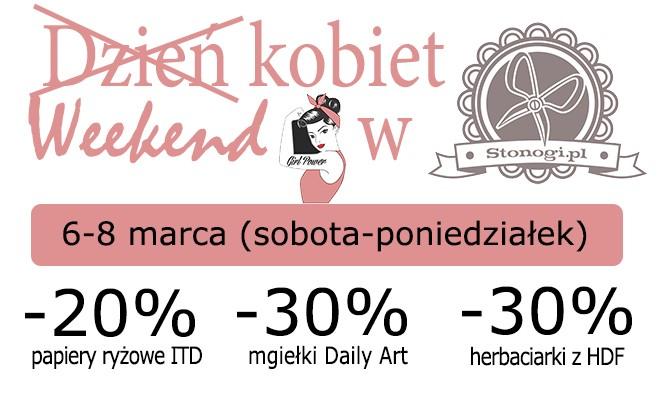Rabaty z okazji Dnia Kobiet w Stonogi.pl - sklepie dla miłośników decoupage i scrapbookingu