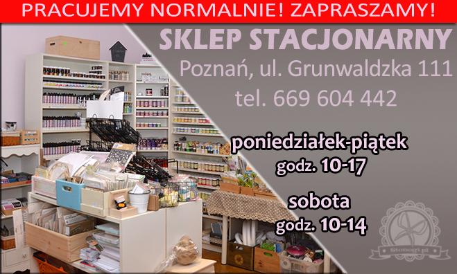 Sklep stacjonarny w Poznaniu, decoupage, scrapbooking, mixedmedia